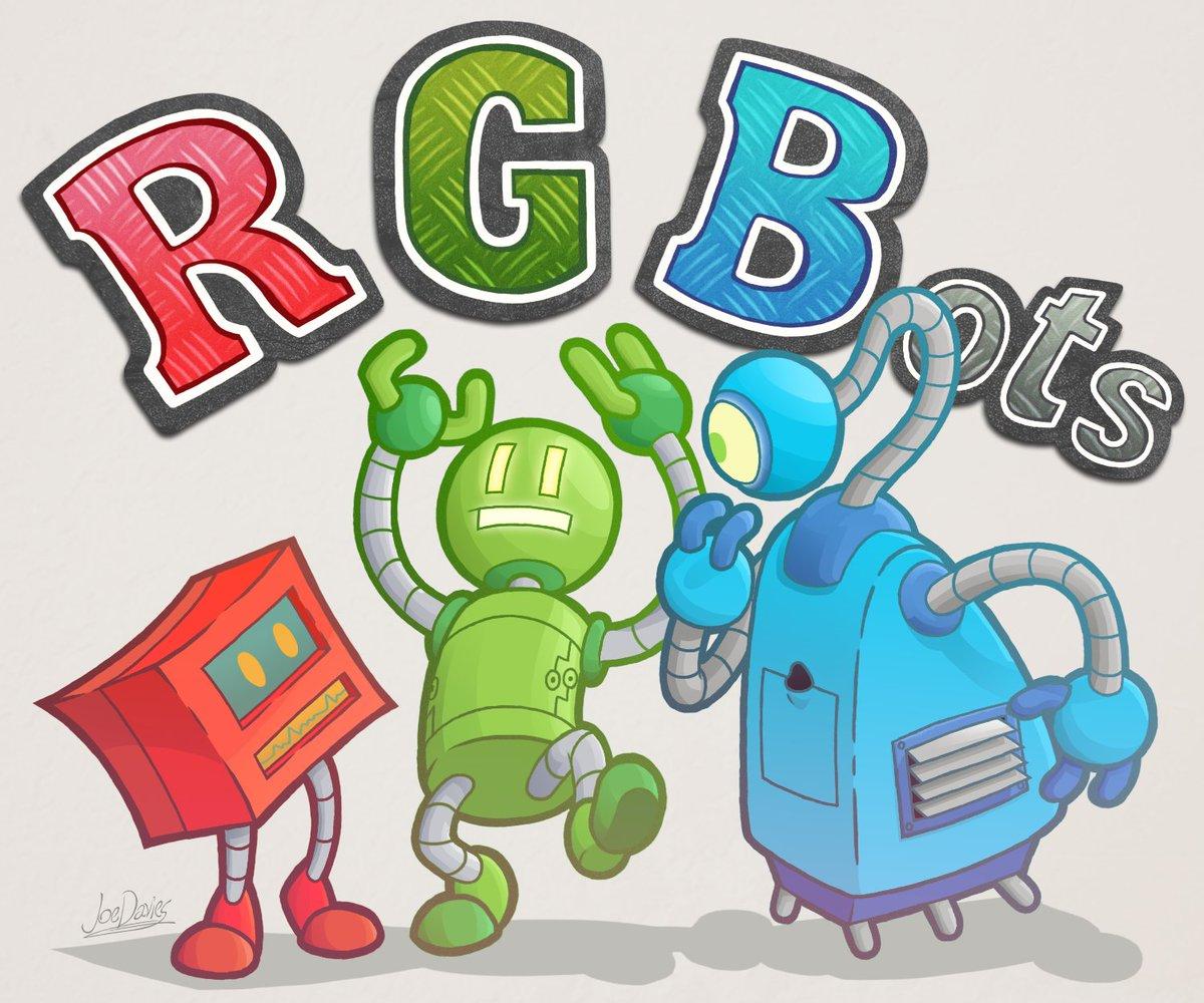 Joe Davies' rendering of the RGBots!